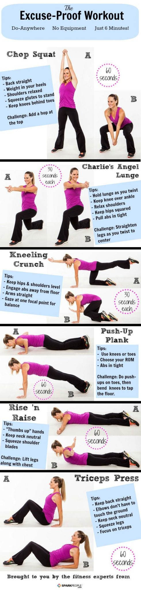6 Minute Exercise Without Equipment